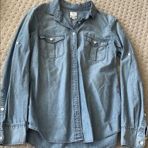 Jcrew fitted chambray shirt